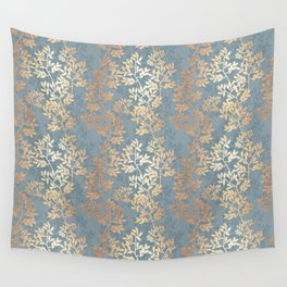 Gold Leaf Tangles Wall Tapestry