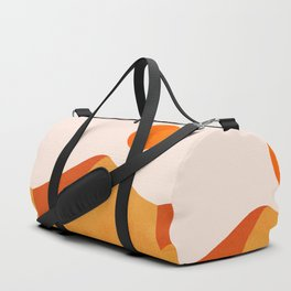 Abstraction_Mountains_SUN_Minimalism_01 Duffle Bag