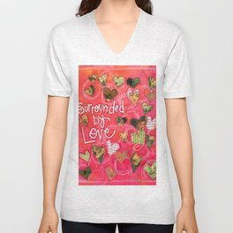 Surrounded by Love Unisex V-Neck
