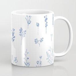 Wildflowers in blue Coffee Mug
