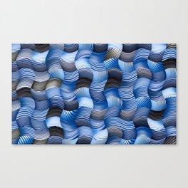 Les stores bleus Canvas Print