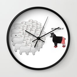 Wot ewe looking at? Wall Clock
