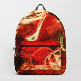 Red smoke background Backpack