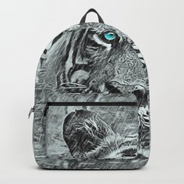 Tiger Blue Backpack