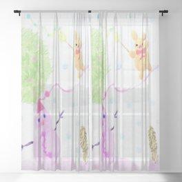 Warm winter day Sheer Curtain