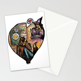 wizard and werewolf Stationery Cards