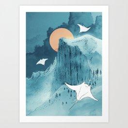 When Earth Rattled  Art Print