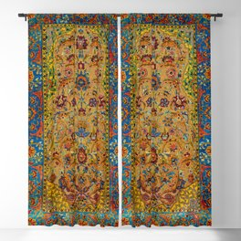 Hereke Vintage Persian Silk Rug Print Blackout Curtain