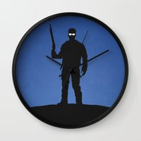 terminator Wall Clocks featuring Terminator by Nick Kemp