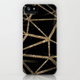 Black and Gold Geometric Design iPhone Case