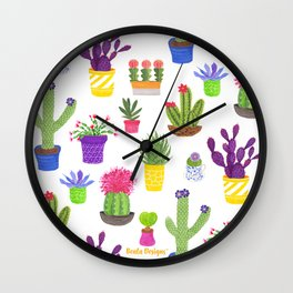 The Potted Cactus Wall Clock