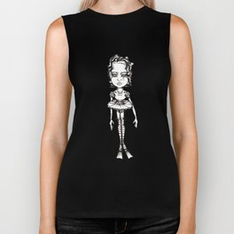 Big Headed Tutu dancer Biker Tank