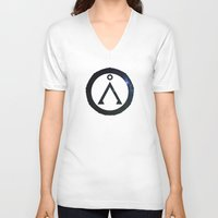 stargate V-neck T-shirts featuring Stargate Universe by Dustin Bauer