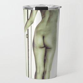 Tall Boyish Brunette Nude Travel Mug
