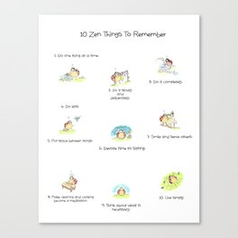 10 Little Zen Things To Remember Canvas Print