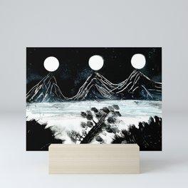 Three Moons Above the Spruce Tree Mini Art Print
