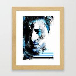 Human texture. Framed Art Print