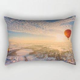 Floating Sunrise Rectangular Pillow