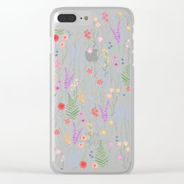 The meadows colorful floral pattern Clear iPhone Case