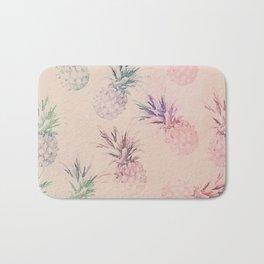 Soft Pastel Pineapple Summe Pattern Bath Mat