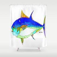 marine Shower Curtains featuring Marine Life by Rafael Salazar