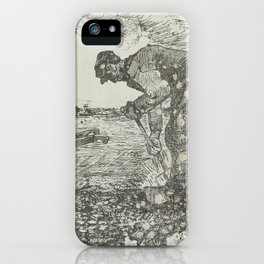 Burning Weeds The Hague, July 1883 Vincent van Gogh (1853 - 1890) iPhone Case