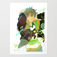 iwatobi Art Prints featuring Free! Club Makoto by Alyssa Tye