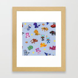 Autobot Mini-cassette pattern Framed Art Print