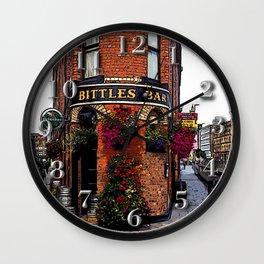 Bittles Bar Wall Clock
