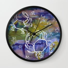 Blue Crab Kind of Day Wall Clock