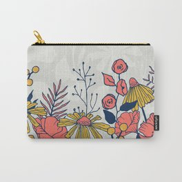 Coral Blooms Border Carry-All Pouch