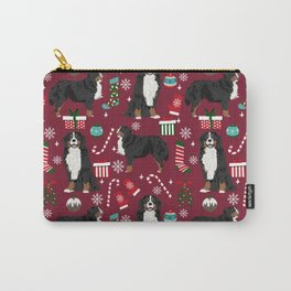 Bernese Mountain Dog christmas dog breed gifts mittens stockings presents candy canes Carry-All Pouch
