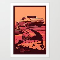 mad Art Prints featuring Mad Max by Mike Wrobel