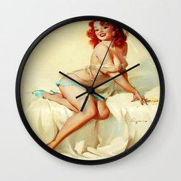 Pin Up Girl Bedside Manner Gil Elvgren Wall Clock