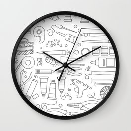 Coloring Book Page Wall Clock