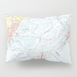 Vintage Map of Ocean City NJ (1952) Pillow Sham