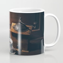 Vintage still life with coffee items Coffee Mug