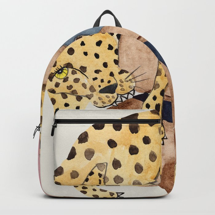 Leopard Woman Backpack