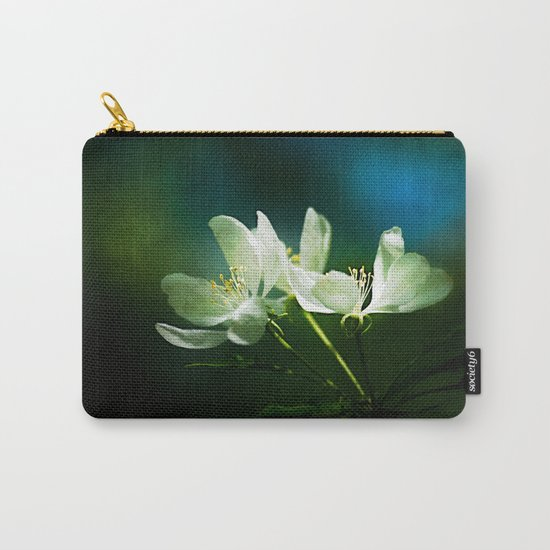 Apple Blossom - Two Flowers Carry-All Pouch