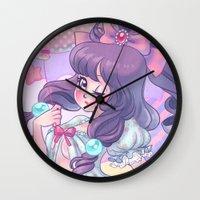 lolita Wall Clocks featuring Lolita by Pich illustration