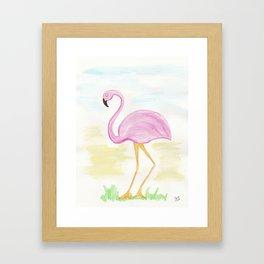 Winter Flamingo Framed Art Print