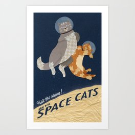 Space Cats Art Print