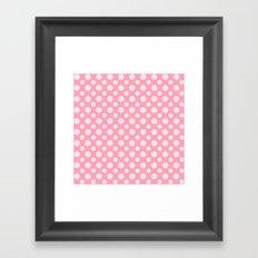 Daisies on Pink Framed Art Print