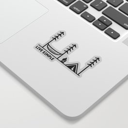 Live Simple Sticker