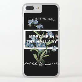 Harry Styles Meet me in the hallway graphic design artwork Clear iPhone Case