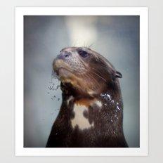 giant river otter Art Print