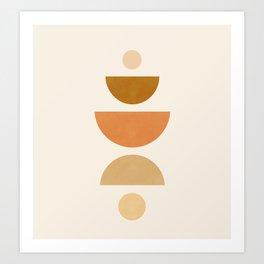 Abstraction_Geometric_Shape_Moon_Sun_Minimalism_001D Art Print