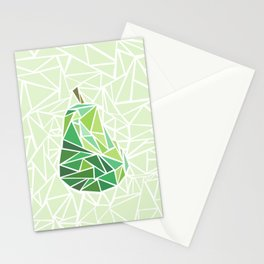 Pear geometry Stationery Cards