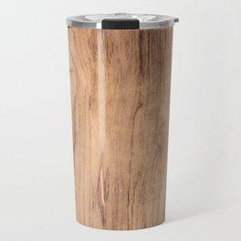 Brown wood pattern Travel Mug