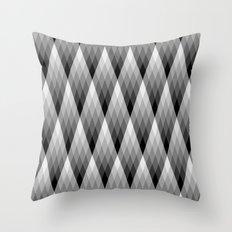 Silvery Throw Pillow